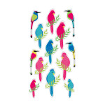 Puffy Stickers Oiseaux exotiques