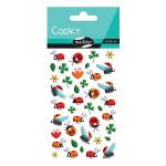 Stickers 3D Cooky trèfles et coccinelles x 41 pcs