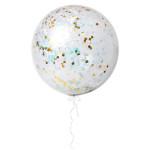 Ballons transparents géants contenant des confettis irisés - 3 pcs