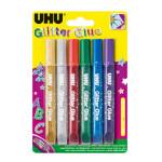 Colle pailletée set de 6 crayons assortis
