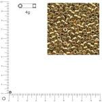 Miyuki Delicas 10/0 métallique - Or DBM0410 - 4 g