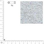 Miyuki Delicas 10/0 transparent rainbow - Aurore boréale DBM0051 - 9 g