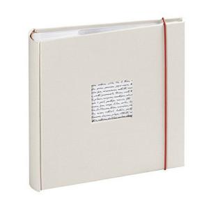 Album photo à pochettes - 100 pages 25 x 24  cm - Modèle Linéa Blanc cassé