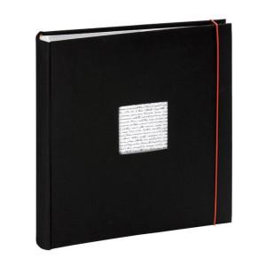 Album photo à pochettes - 100 pages 34,5 x 37  cm - Modèle Linéa Noir