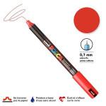 Marqueur PC-1MR calibrée extra-fine - Rouge