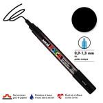Marqueur PC-3M pointe conique fine - Noir
