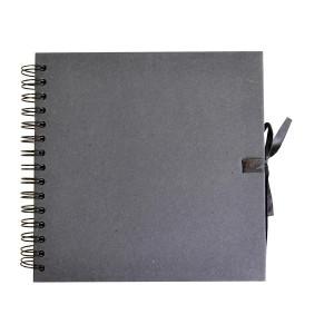 Album de Scrapbooking 30 x 30 cm Kraft Noir