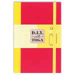 Carnet 10 x 15 cm Bicolore Jaune Fuchsia 60 pages Jaune 100 g/m²