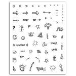 Tampon Crystal' Icônes bullet journal 55 pcs