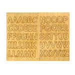 Alphabet autocollant - Bois