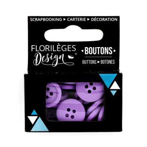 Boutons - 1,5 cm - améthyste