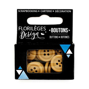 Boutons - 1,5 cm - cappuccino