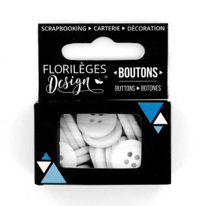 Boutons - 1,5 cm - edelweiss