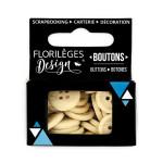 Boutons - 1,5 cm - ivoire