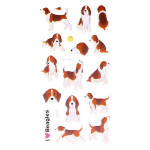 Autocollant 3D Puffies Chiens beagle