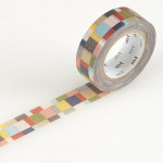 Masking tape mosaique multicolore tons sobres