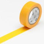 Masking tape uni jaune orangé