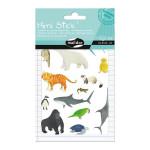Gommettes Mini Stick animaux rares x 50 pcs