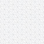 Calque imprimé Japan Sashiko Etoiles - 30 x 30 cm