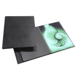 Press-book Modebook à spirales + 10 pochettes - 21 x 30 cm