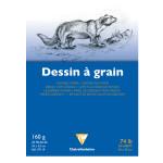 Bloc de papier à grain fin 160 g/m² 24 x 32 cm