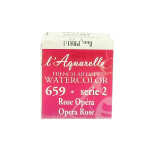Aquarelle extra-fine au miel en demi-godet - 611 - Rouge cadmium pourpre véritable O ***