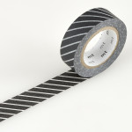 Masking tape à rayures noir