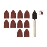 Capuchons abrasifs en corindon - Grain 80 et 150 Ø 9 mm - 10 pcs