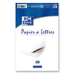 Papier à lettre ligné Bloc 100 pages 14,8 x 21 cm 80 g/2