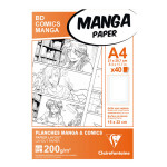 Papier Manga BD Comic A4 - 40 Fles - 200 g/m² Grille simple