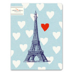 Cahier ligné numéroté 17 x 22 cm 100 g/m² 64 p Mister Eiffel