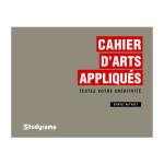 Livre Cahier d'arts appliqués