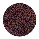 Perles Toho 11/0 metallic effet mat irisé 3g - 614 Olive