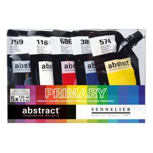 Peinture acrylique Abstract Thème Pack primaires