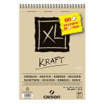 Bloc de papier XL Kraft 90 g/m² - 21 x 29,7 cm (A4)
