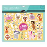 Gommette Maxi Book Stick thème Animaux déguisés 700 pcs