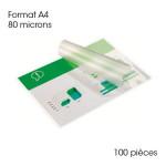 Pochette de plastification A4 80 microns Brillante 100 pcs