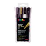 Marqueur PC-3M pointe fine 4 couleurs ASS09