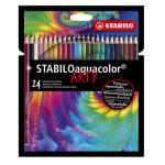Crayons de couleur Aquacolor Set Arty 24 couleurs
