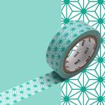 Masking Tape 1P Asanoha hisui 15 mm x 7 m