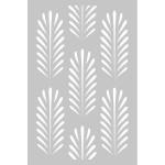 Pochoir Deep Green - 10 x 15 cm - Fond feuilles
