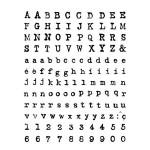 Tampon clear alphabet et chiffre machine à écrire