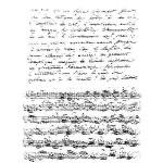 Set de 2 Tampons Clear - Manuscrit et musique - 8.5 x 13 cm