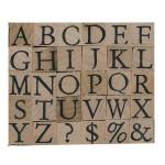 Tampons Alphabet majuscule en bois