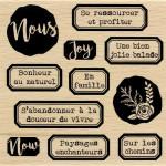 Gypsy Forest - Tampon Bois - Bonheur au naturel - 10 x 10 cm